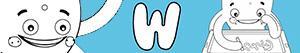 W harfi ile erkekler isimleri boyama