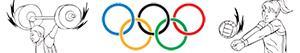 Olimpik sporları. Çeşitli boyama